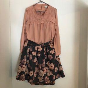 Beautiful pink Molly Bracken outfit XL top & skirt